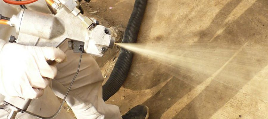 ¿Se puede proyectar poliuretano sobre la madera?